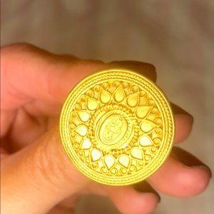 satya gold coin ring